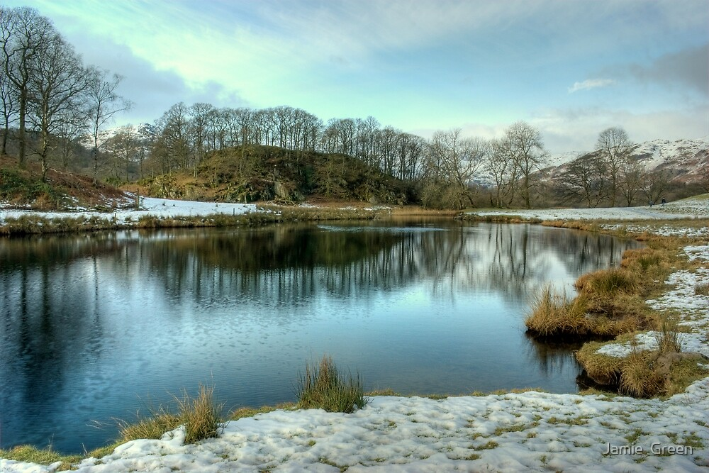 River Brathay In Winter by Jamie  Green