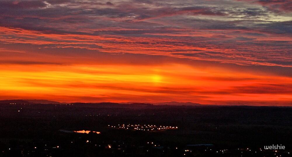 Under The Sunset - Avon Dassett Hills. UK. by welshie