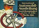 Auto Show in Berlin, 1911 by edsimoneit