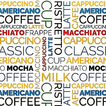 Typographic Coffee Pattern by cybermall