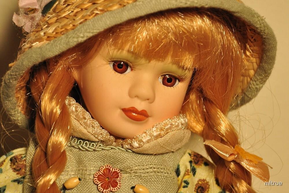 Brown-eyed girl in straw hat by mltrue