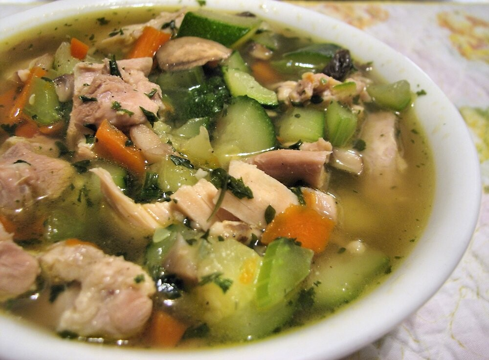 Fresh and Hot Chicken Soup  by Karen  Roberts