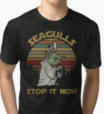 Seagulls stop it now vintage shirt Tri-blend T-Shirt