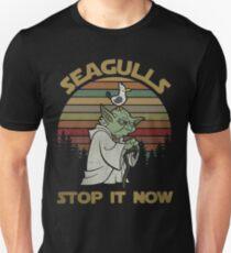 Camiseta ajustada Las gaviotas lo paran ahora camisa vintage