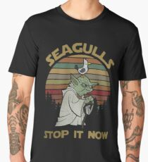 Seagulls stop it now vintage shirt Men's Premium T-Shirt