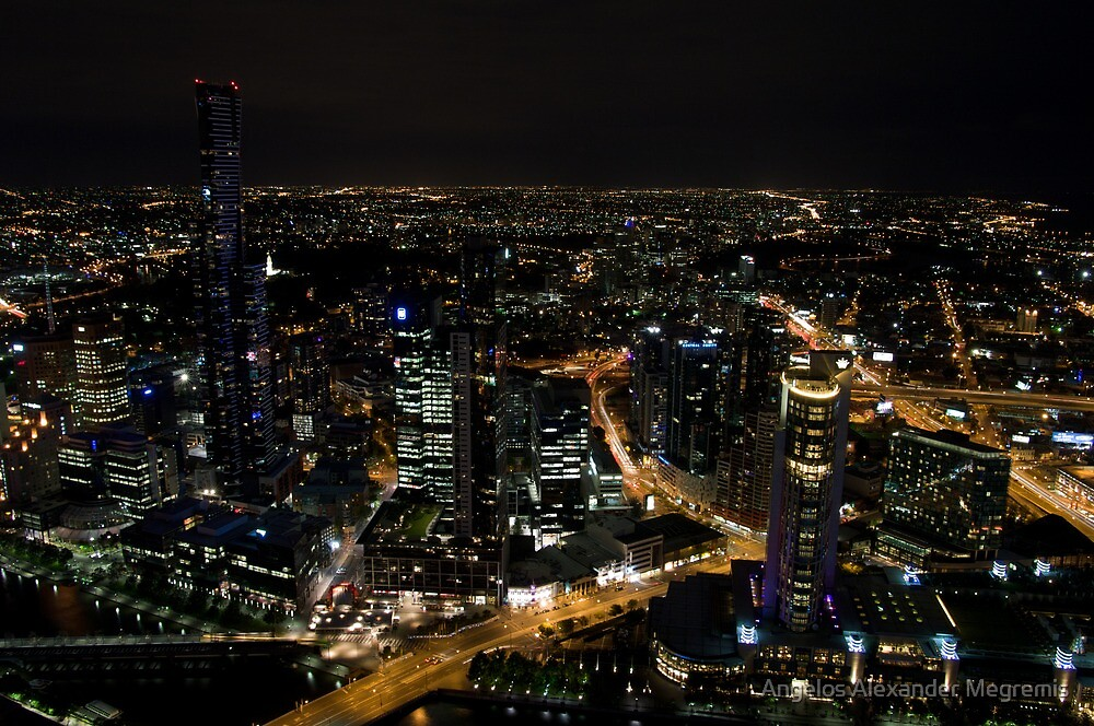 Melbourne and the Eureka - view from Rialto by Angelos Alexander Megremis