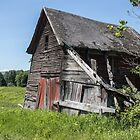Falling Barn by Laura Cardello