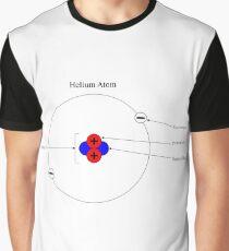 Bohr Model of Helium #BohrModelofHelium #BohrModel #Bohr #Model #HeliumAtom #electron #proton #neutron #nucleus #atom #helium #chemistry #illustration #molecular #science #research #particle #symbol Graphic T-Shirt
