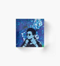 Connor Ball - Floral Acrylic Block