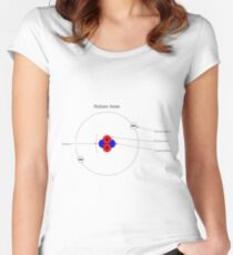 Bohr Model of Helium #BohrModelofHelium #BohrModel #Bohr #Model #HeliumAtom #electron #proton #neutron #nucleus #atom #helium #chemistry #illustration #molecular #science #research #particle #symbol Women's Fitted Scoop T-Shirt