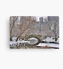 All the Trolls Are In Miami-Gapstow Bridge In Snow  New York City (HDR) Canvas Print