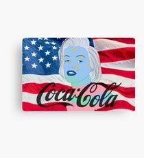 Marilyn Monroe American Flag Graphic  Canvas Print