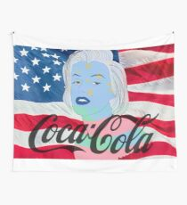 Marilyn Monroe American Flag Graphic  Wall Tapestry