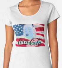 Marilyn Monroe American Flag Graphic  Women's Premium T-Shirt