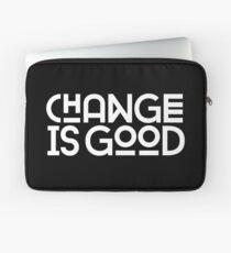 Funda para portátil El cambio es bueno.
