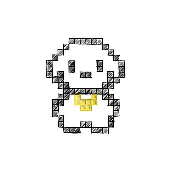 8-bit Dog  by DroopyFruit