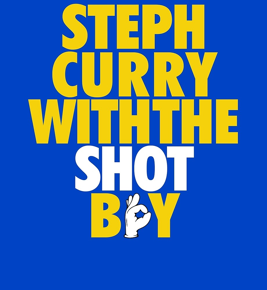 Steph Curry With The Shot Boy [With 3 Sign] Gold/White by OGedits
