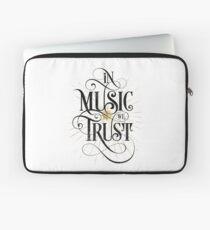 In Music We Trust {Distressed Version} Laptop Sleeve