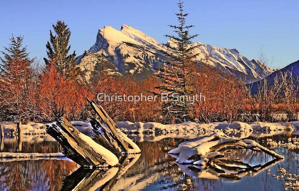 Mount Rundle by Christopher B Smyth