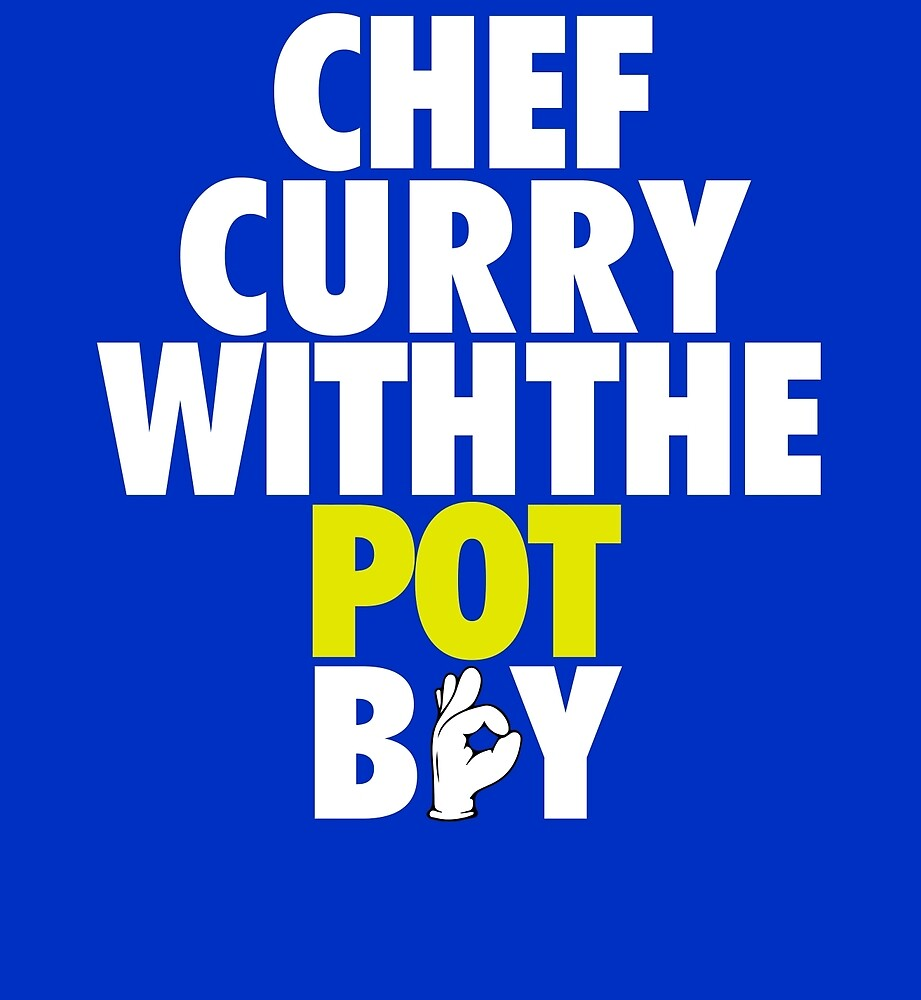 Chef Curry With The Pot Boy [With 3 Sign] White/Gold by OGedits