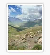 a large Uzbekistan landscape Sticker