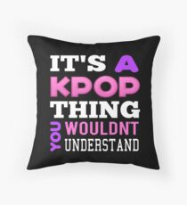 A KPOP THING - BLACK Throw Pillow
