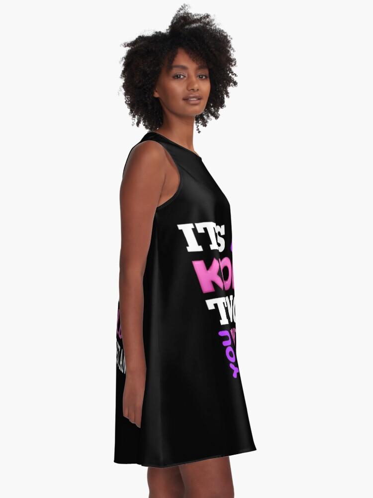 Alternative Ansicht von Ein KPOP THING - SCHWARZ A-Linien Kleid