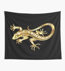 Golden Lizard Wall Tapestry