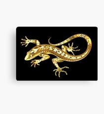 Golden Lizard Canvas Print