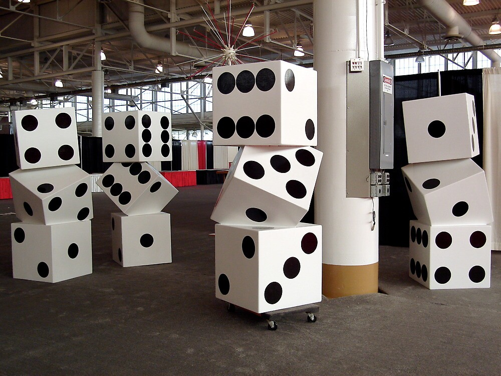 Stacked Dice  by Christopher  Salmon