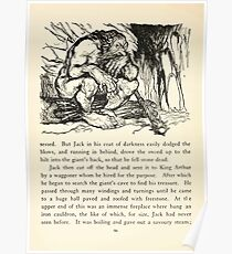 English Fairy Tales by Flora Annie Webster Steel art Arthur Rackham 1922 0128 Giant Seated on Timber Block Poster