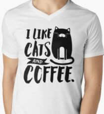 I Like Cats and Coffee Men's V-Neck T-Shirt