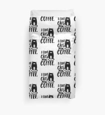 I Like Cats and Coffee Duvet Cover
