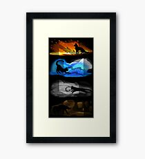 Warrior Cats: Four Elements, Four Clans Framed Print