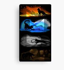 Warrior Cats: Four Elements, Four Clans Canvas Print