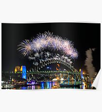 Sydney New Year Eve 2009 Fireworks Poster