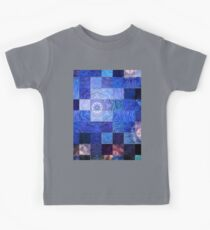 Blue Mosaic-Available As Art Prints-Mugs,Cases,Duvets,T Shirts,Stickers,etc Kids Tee