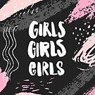 «Chicas chicas chicas Inscripción de letras de mano» de Anna Kutukova