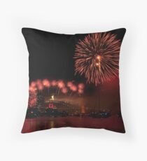 2009 Sydney New Year's Eve Fireworks Throw Pillow