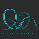 My Kind Of Mountains Roller Coaster Blue Design by PerttyShirty