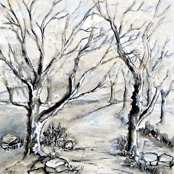 Trees in winter  by Happyart