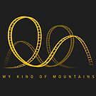 My Kind Of Mountains Roller Coaster Yellow Design by PerttyShirty