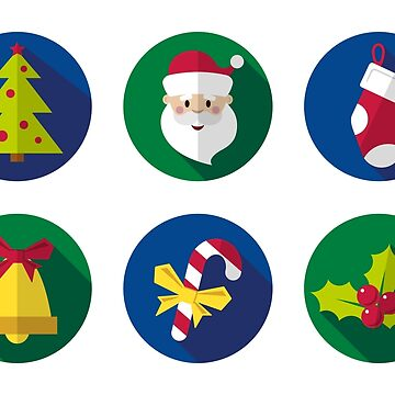 Ornament of Christmas stickers by alijun