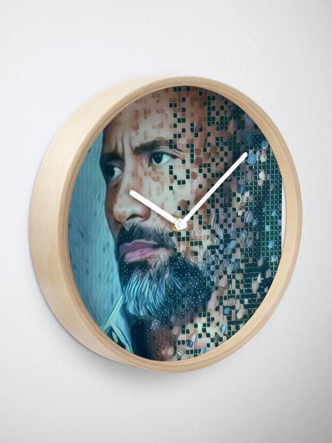 Alternate view of Dwayne Johnson Clock