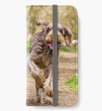 Brown Roan Italian Spinone Dog in Action iPhone Wallet/Case/Skin