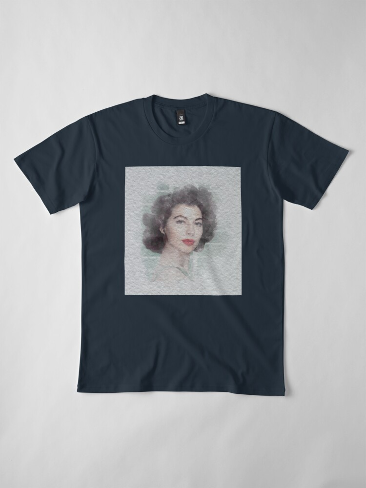 Alternate view of Ava Gardner Watercolour Premium T-Shirt