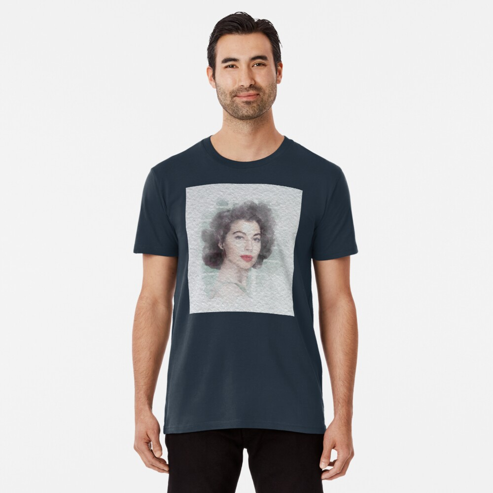 Ava Gardner Watercolour Premium T-Shirt