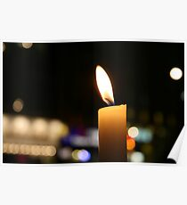 Theatre District By Candlelight Poster