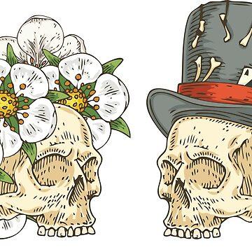 Love  Skulls by deepfuze