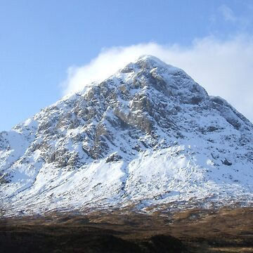 Etive Mor in the snow by goldyart